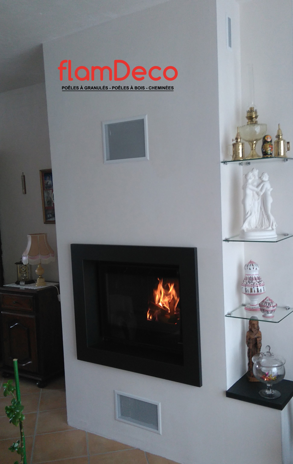 Comment Installer Un Poele A Granule Dans Une Cheminee cheminées - flamdeco à laval mayenne 53