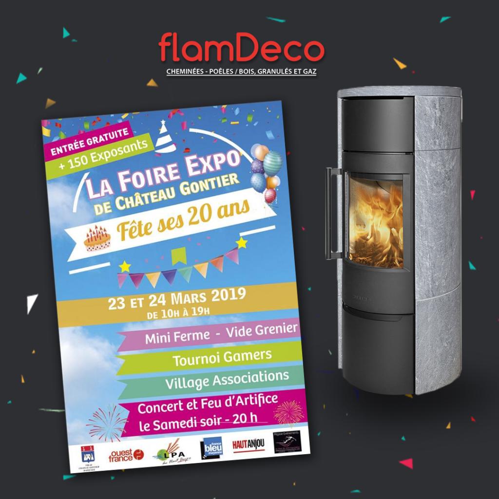 Foire expo de Château-Gontier les 23 et 24 mars 2019 avec FlamDeco