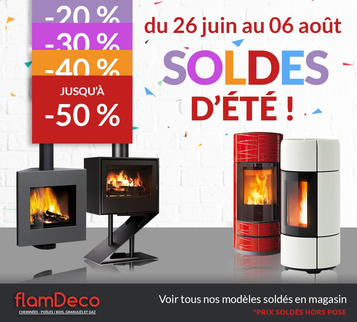 SOLDES 2019 Flamdeco poêles et cheminées