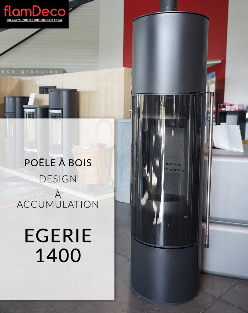 Poêle à bois à accumulation EGERIE 1400 Design