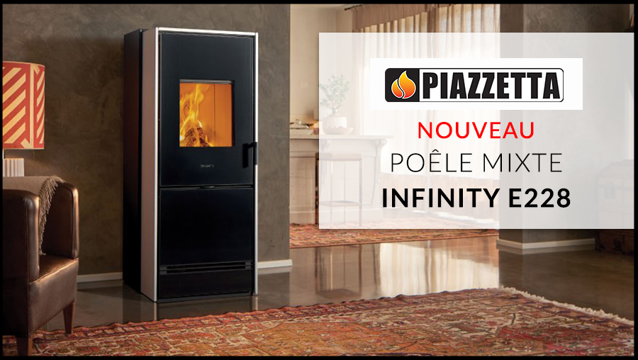 Flamdeco poêle mixte infinity E228 de Piazzetta