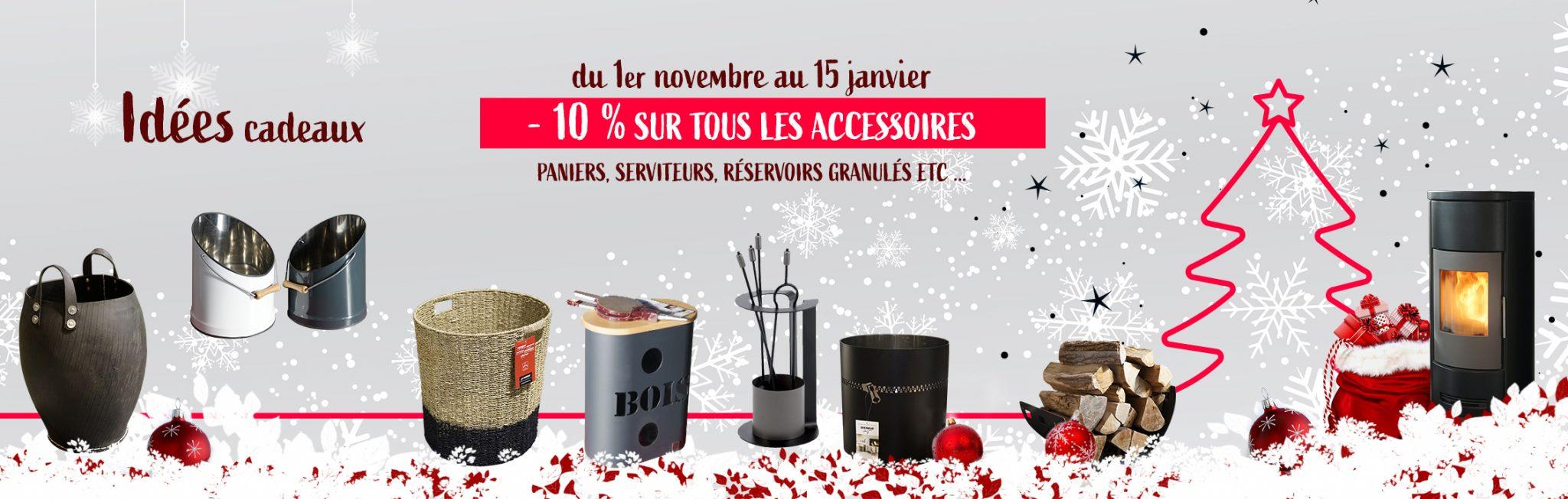 FlamDéco opération Noël 2020 accessoires poêles et cheminées