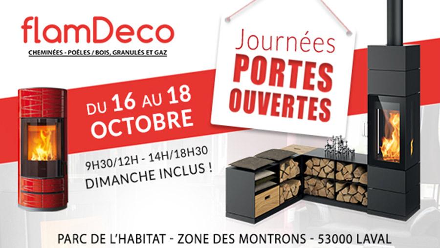 Portes ouvertes FlamDéco Octobre 2020