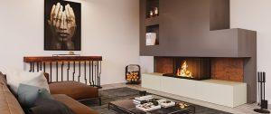 Amarante Seguin cheminée céramique