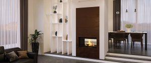 Safran Seguin cheminée céramique acier rouillé